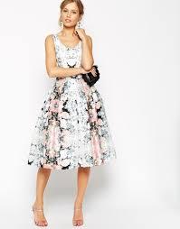 asos salon super full belted floral prom dress lyst