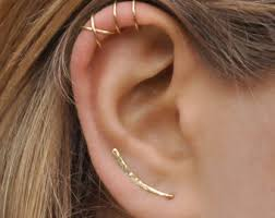 ear climber earring ear climbers earrings x2 ear climber gold ear pins by benittamoko
