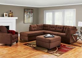 marlo 3 pc raf slpr sectional walnut sleepers living room