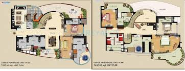 penthouse floor plans 5 bhk 7450 sq ft penthouse for sale in omaxe the forest spa at