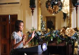 Military Welcome Home Decorations by Michelle Obama Unveils 2013 White House Holiday Decorations