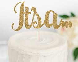 gender reveal cake toppers gender reveal cake topper handcrafted in 2 5 business days