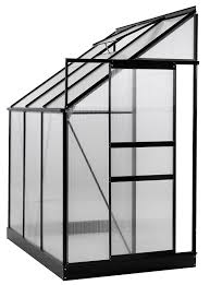 Sq Ft To Ft Amazon Com Ogrow 25 Sq Ft Aluminum Lean To Greenhouse With 6 U0027 X