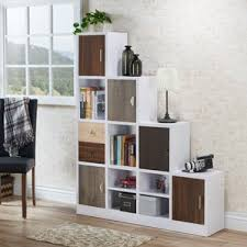 Sliding Bookcase Murphy Bed Bookcases With Doors You U0027ll Love Wayfair