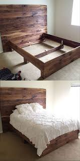 Wooden Pallet Furniture Bed Frames Pallet Bed With Storage Instructions Wooden Pallet