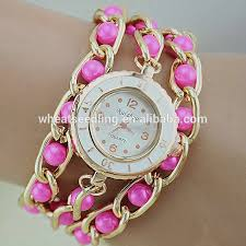 bracelet chain watches images 2015 pearl bead bracelet chain girl latest hand watch buy girl jpg