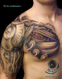 biomechanical covering a s chest shoulder and arm