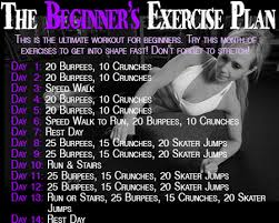 workout plans for beginners at home the beginner s exercise plan to burn fat in a week home healthy habits