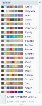 colour themes for excel create your own theme in powerpoint powerpoint