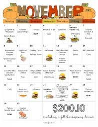 thanksgiving day cooking schedule a month of meals on a budget april 2015 meal plan 30 days of