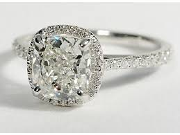 Cushion Cut Halo Diamond Engagement Ring In Platinum Floating Halo Diamond Engagement Ring In 14k White Gold 1 4 Ct