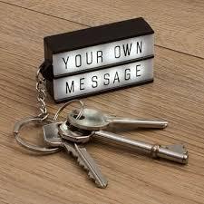 box keychain thumbs up keyring cinema light box keychain