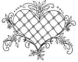 hearts coloring pages for adults justcolor