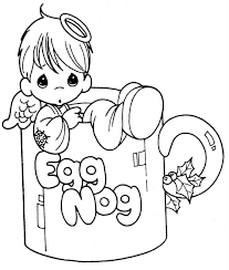angel cup free precious moments coloring pages