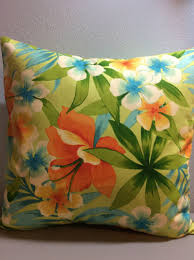pillow cover tommy bahama bright orange floral fabric beach pillow
