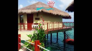 over the water bungalow in mexico by grand travel youtube