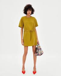 Zara Indonesia Gathered Dress Mini Dresses Zara Indonesia