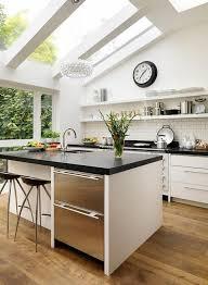 skylight windows adding contemporary flair to spacious modern