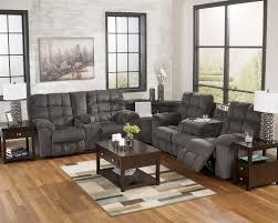 End Table Charging Station by Reclining Sectional With Left Side Loveseat Cup Holders And