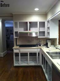 Paint Kitchen Cabinets Before After Before U0026 After Kitchen Reno With Painted Cabinets Home Bunch
