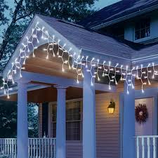 cool white icicle lights icicle christmas lights led 210 lite lock concave cool white icicle