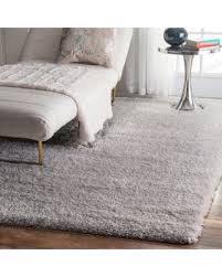 Plush Runner Rugs Amazing Deal On Silver Orchid Stewart Solid Silver Shag Runner Rug