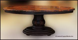 Wood Table Base by Popular Wood And Iron Table Bases U2014 Custom Hammered Copper