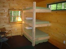 triple bunk bed perfectly simple could add a shelf or two per