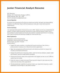 resume of financial analyst junior financial analyst resume best financial analyst resume