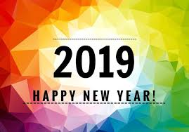 Colorful happy new year 2019  Download Free Vector Art Stock