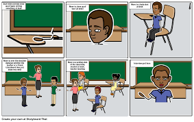 Student At Desk by Short Video Storyboard Storyboard By Humera97