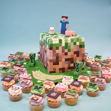minecraft cupcakes minecraft birthday cake minecraft birthday cake and cupcakes