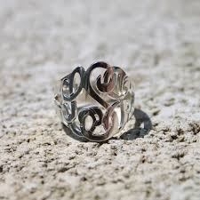monogramed rings personalized from me to you cut out monogram ring and tons of