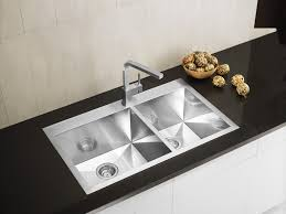 Narrow Kitchen Sink Modern Top Mount Farmhouse Kitchen Sink On Black Marble Countertop