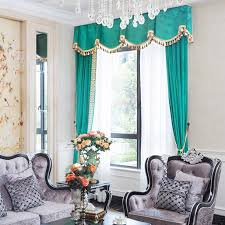 embroidery velvet shabby chic turquoise bedroom curtains without