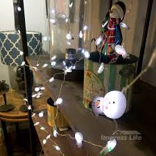 thanksgiving lights decorations amazon com snowman couple led string lights by impress life 10 ft