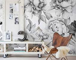 Temporary Wallpaper Uk Dark Floral Removable Wallpaper Peel U0026 Stick Self Adhesive