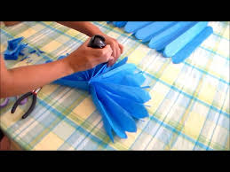 tissue paper fans how to make tissue paper fans