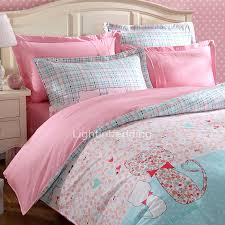 Pink And Blue Girls Bedding by Blue And Pink Cotton Girls Bedding Sets Cute Animal Pattern Lbd04061138279 2 Jpg