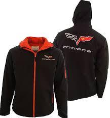corvette merchandise c6 corvette hooded fleece jacket corvette