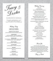 wedding ceremony program template u2013 31 word pdf psd indesign