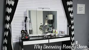 dressing room tour beauty room mini makeup collection walk in