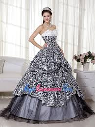 black and white quinceanera dresses black and white quinceanera dress with zebra print fabric and