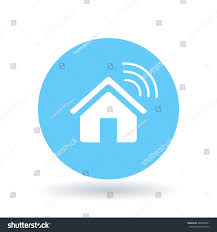 home automation logo design smart home icon wireless house sign stock vector 384009901