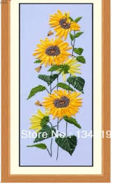 sunflower ribbon 2018 ribbon embroidery wall picture sunflower suitable for