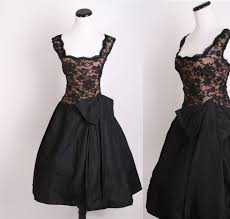 1940s cocktail dress cocktail dress black dress illusion
