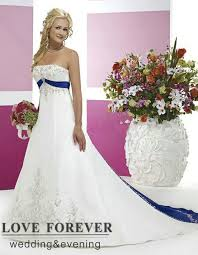 wedding dresses panama city fl vintage style silver embroidery on satin white and royal blue