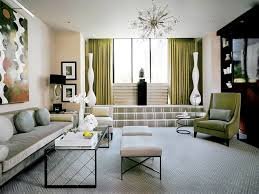Transitional Style Living Room Furniture Neutral Curtains Sofa Wall Art Area Rug Mantel Armchairs Cool