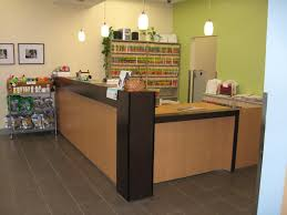 Receptionist Desk Furniture Furniture Medical Office Reception Desk With Green Wall Paint And
