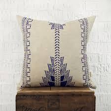 indigo southwestern pillow case cushion cover navajo